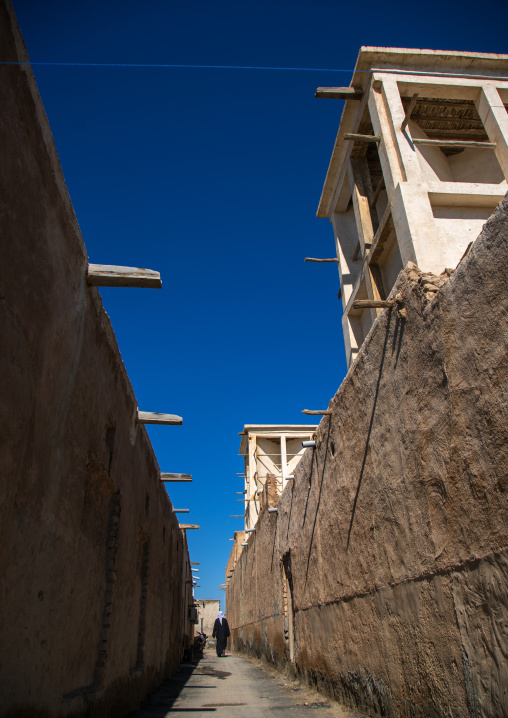 wind towers in the old town, Hormozgan, Bandar-e Kong, Iran