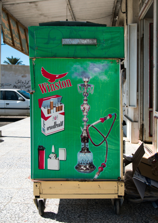 Advertisement for cigarettes, Hormozgan, Bandar-e kong, Iran