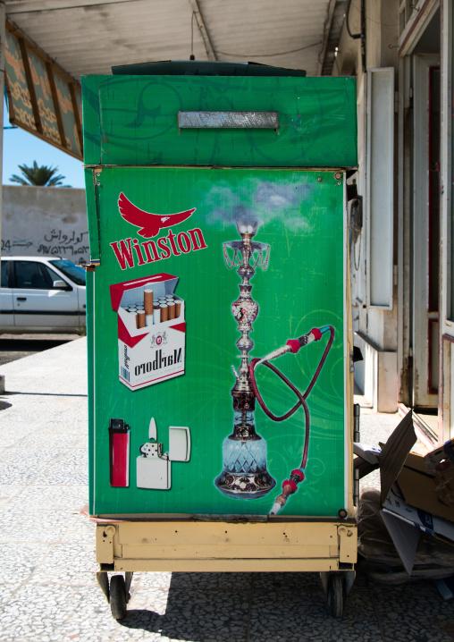 advertisement for cigarettes, Hormozgan, Bandar-e Kong, Iran