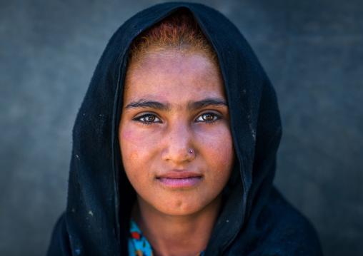 Gypsy girl portrait, Central county, Kerman, Iran