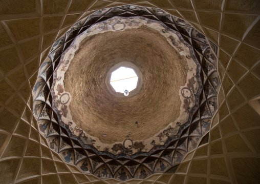 ceiling with its intricate and elaborate patterns in ganjali bazaar, Central County, Kerman, Iran