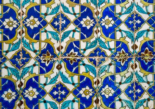 mosaic pattern with ceramic tiles in ganjali khan hammam, Central County, Kerman, Iran
