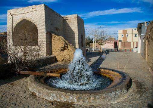 Traditional fountain in town, Ardakan county, Aqda, Iran