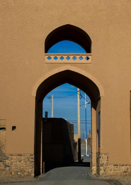 main gate of the old town, Ardakan County, Aqda, Iran