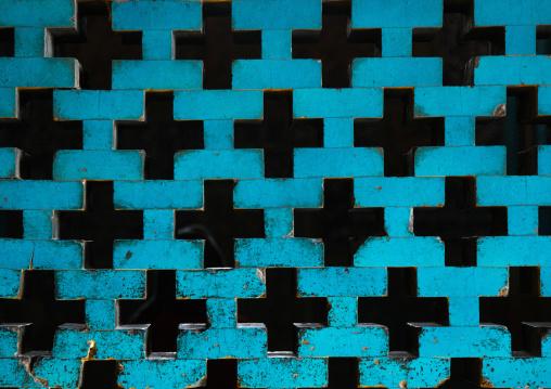 Sheikh lotfollah mosque turquoise window, Isfahan province, Isfahan, Iran