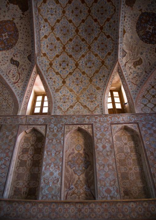 Ali qapu palace ceiling, Isfahan province, Isfahan, Iran