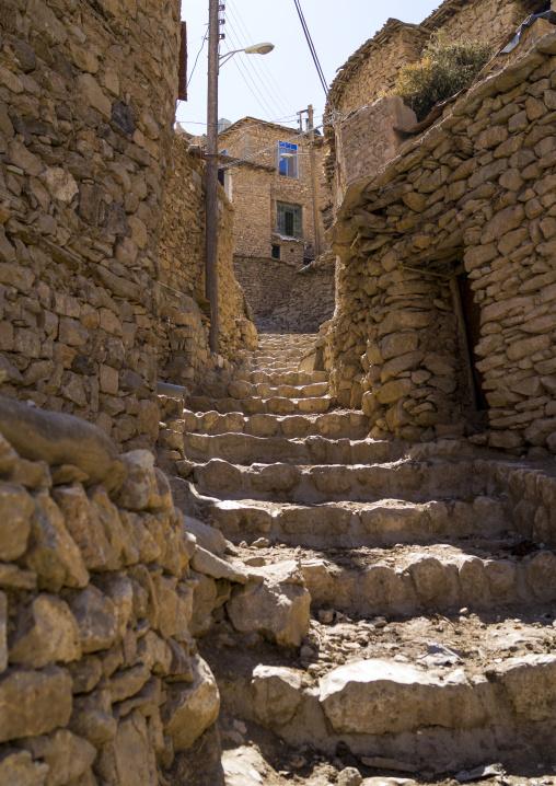 Stone Stairs In The Old Kurdish Village Of Palangan, Iran