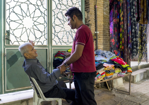 Men Chatting In The Bazaar, Kermanshah, Iran