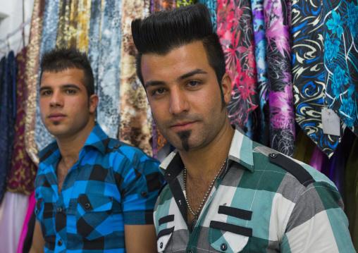 Young Men With Modern Haircut In The Bazaar, Kermanshah, Iran