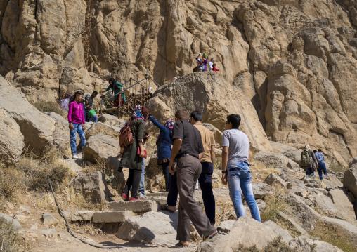 Tourists In Bisotun Site, Iran