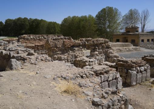 Old Caravanserai In Bisotun Site, Iran