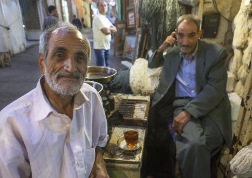 Old Men Inside The Old Bazaar, Tabriz, Iran