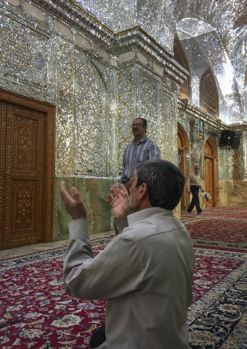 The prayer hall of the shah-e-cheragh mausoleum, Fars province, Shiraz, Iran
