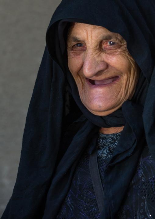 An Elderly Iranian Shiite Woman During The Chehel Manbar Ceremony One Day Before Ashura, Lorestan Province, Khorramabad, Iran
