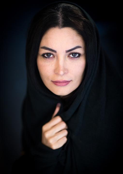 Portrait Of An Iranian Beauty Wearing A Scarf, Yazd Province, Yazd, Iran