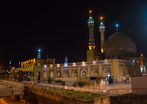 Fatima Al-masumeh Shrine At Night, Central County, Qom, Iran