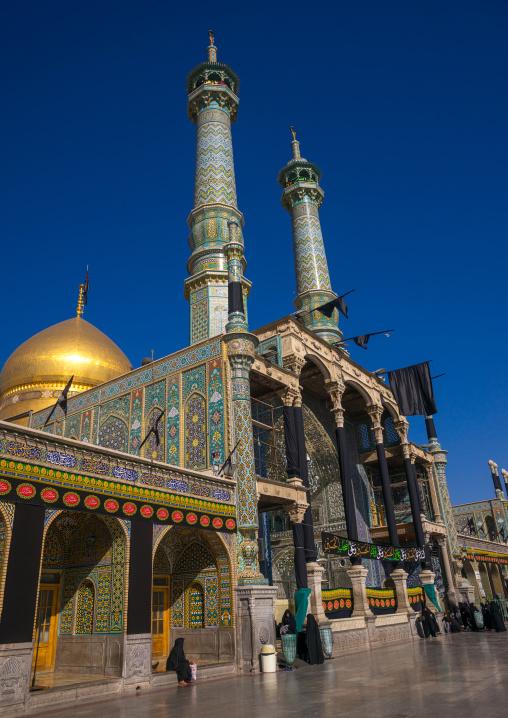 Black Flags On Fatima Al-masumeh Shrine For Ashura, Central County, Qom, Iran