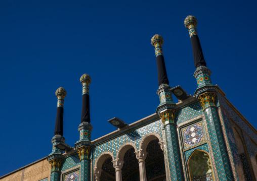 Fatima Al-masumeh Shrine Decorated In Black For Ashura Celebration, Central County, Qom, Iran