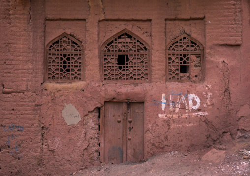 Ancient Building And Windows In Zoroastrian Village, Isfahan Province, Abyaneh, Iran