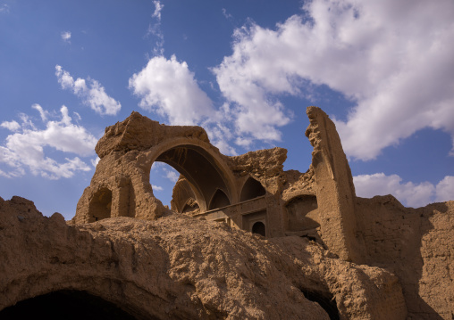 Ruined Houses In A Deserted Ancient Village, Isfahan Province, Kashan, Iran
