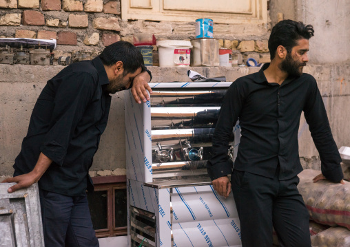 Iranian Shiite Muslim Mourners From The Mad Of Hussein Community Crying During Muharram, Isfahan Province, Kashan, Iran