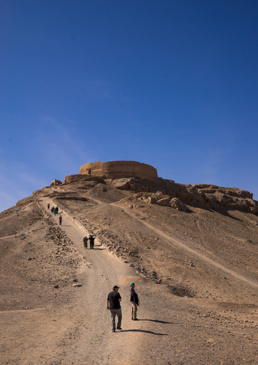 Tower Of Silence Where Zoroastrians Brought Their Dead And Vultures Would Consume The Corpses, Yazd Province, Yazd, Iran