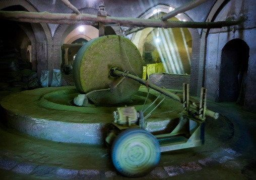 Traditional Henna Mill With A Giant Stone, Yazd Province, Yazd, Iran