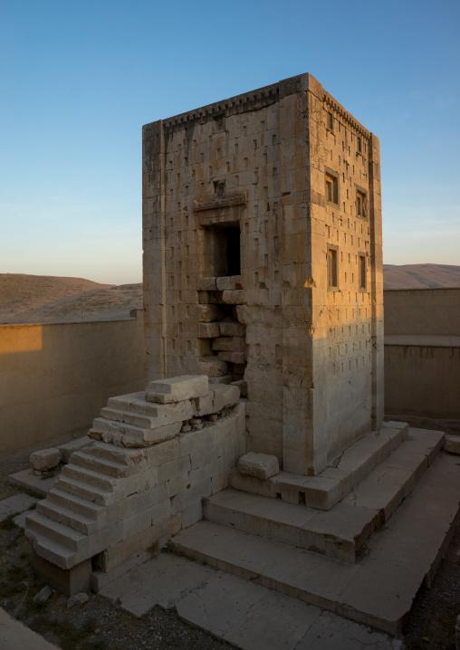 The Tower Knows As The Ka'bah Of Zoroaster In Naqsh-e Rustam Necropolis, Fars Province, Shiraz, Iran