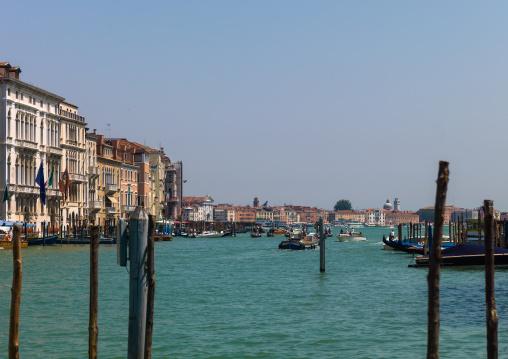 Old venitian buildings on the canal, Veneto Region, Venice, Italy