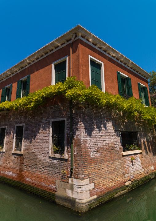 Old house on the canal, Veneto Region, Venice, Italy