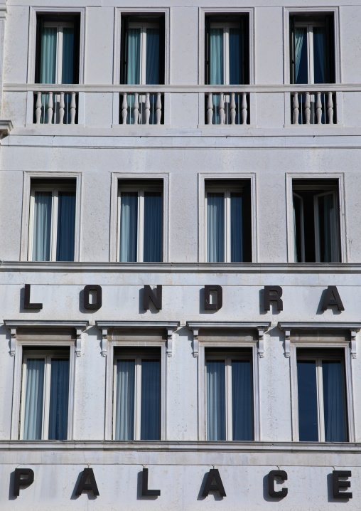 Londra palace hotel facade, Veneto, Venice, Italia