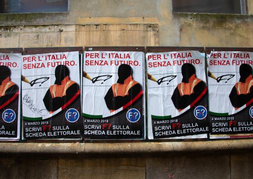 Posters for the 2018 italian general election, Veneto, Venice, Italia
