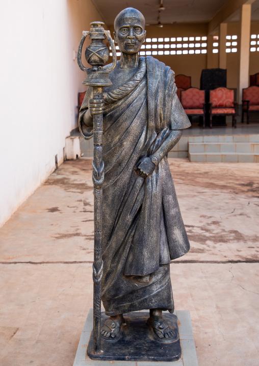 Statue in the Agni-indenie royal court, Comoé, Abengourou, Ivory Coast