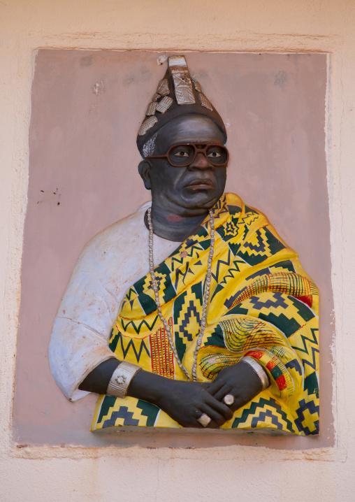 Portrait of the king Nanan Boa Kouassi in the Agni-indenie royal court, Comoé, Abengourou, Ivory Coast