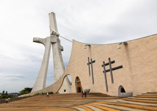 Roman catholic st. Paul's cathedral built by the italian architect Aldo Spirito at the initiative of Félix Houphouët-Boigny, Région des Lagunes, Abidjan, Ivory Coast