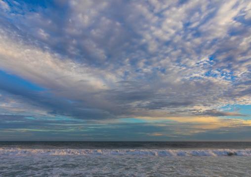 Rough sea under a cloudy sky, Sud-Comoé, Grand-Bassam, Ivory Coast