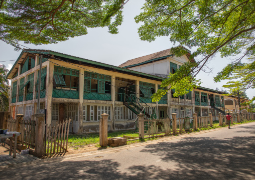 Old french colonial building formerly customs house in the UNESCO world heritage area, Sud-Comoé, Grand-Bassam, Ivory Coast