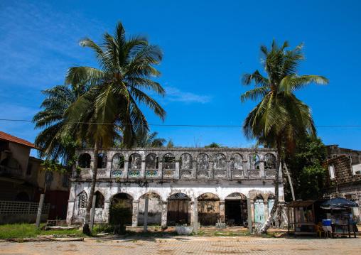 Old french abandonned colonial building maison Edouard Aka, Sud-Comoé, Grand-Bassam, Ivory Coast