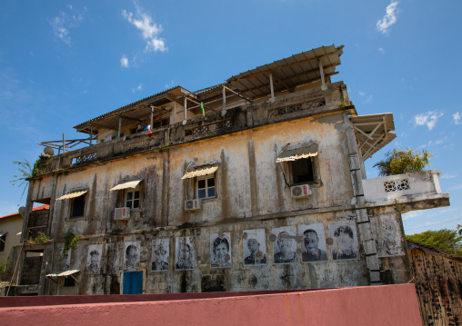 Old french colonial building in the UNESCO world heritage area, Sud-Comoé, Grand-Bassam, Ivory Coast