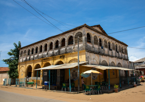 Maison Varlet old french colonial house, Sud-Comoé, Grand-Bassam, Ivory Coast