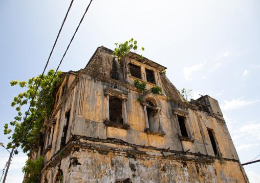Maison Ganamet old french colonial building, Sud-Comoé, Grand-Bassam, Ivory Coast