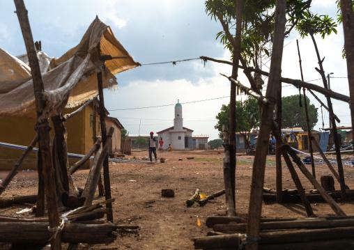 Weaving loom machines in Senufo tribe, Savanes district, Waraniene, Ivory Coast