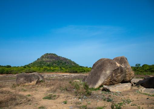 Animist sanctuary where animal sacrifices are made, Savanes district, Shienlow, Ivory Coast