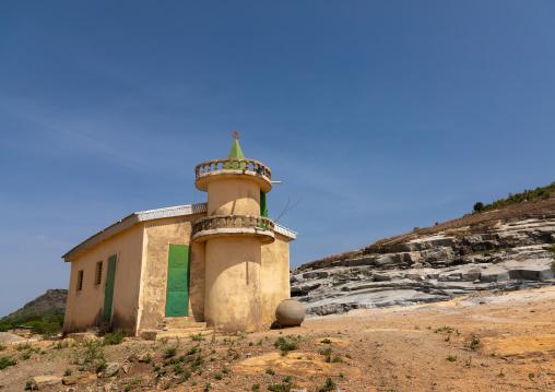 Small mosque near a granite quarry, Savanes district, Shienlow, Ivory Coast