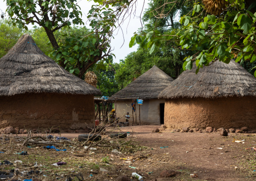 Huts in a Peul tribe village, Savanes district, Boundiali, Ivory Coast
