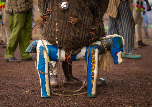 Wooden seat for the leader during the Ngoro dance, Savanes district, Ndara, Ivory Coast
