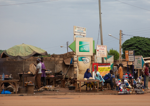Small market in the street, Savanes district, Boundiali, Ivory Coast
