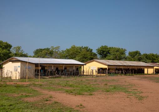 School building in a village, Denguélé, Korondougou, Ivory Coast