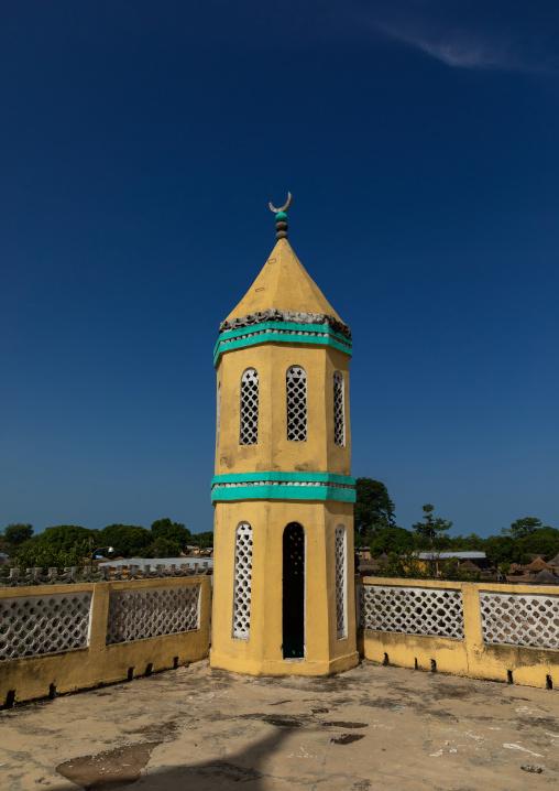 Minaret of the grand mosque, Denguélé, Korondougou, Ivory Coast