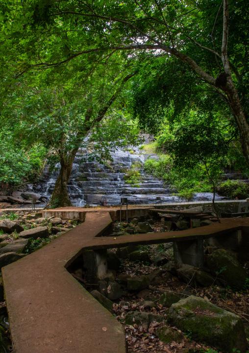 Small waterfall in summertime, Tonkpi Region, Man, Ivory Coast